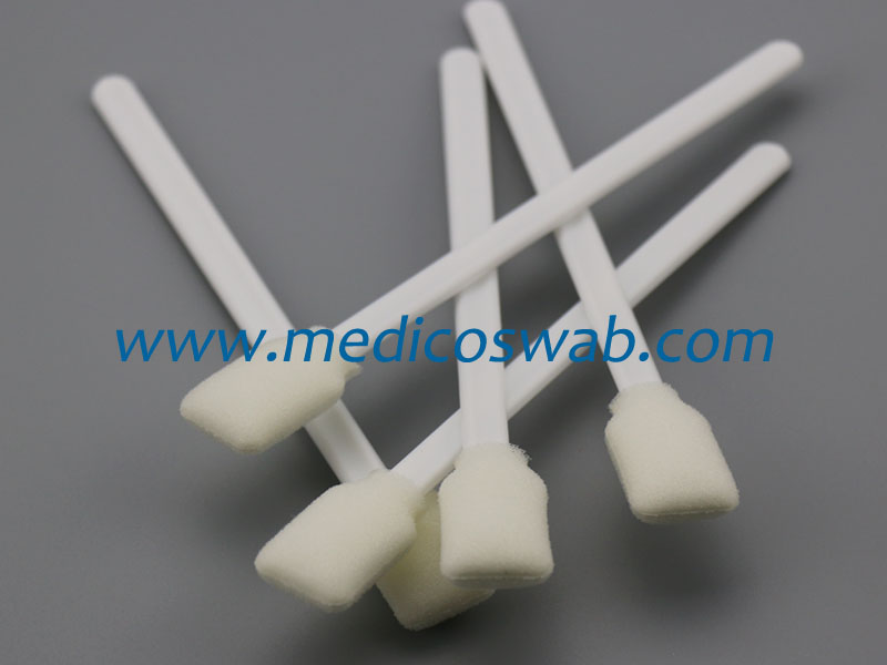 Rectangular sterile foam tip antiseptic swab sticks