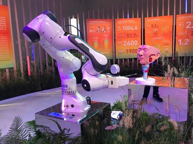 nasopharyngeal swab sampling robot